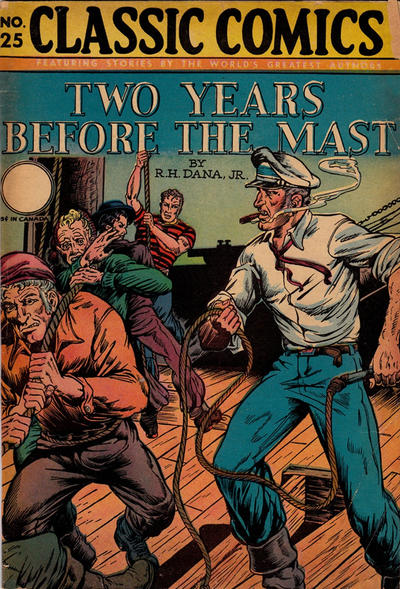 Cover for Classic Comics (Gilberton, 1941 series) #25 - Two Years Before the Mast [HRN 30]