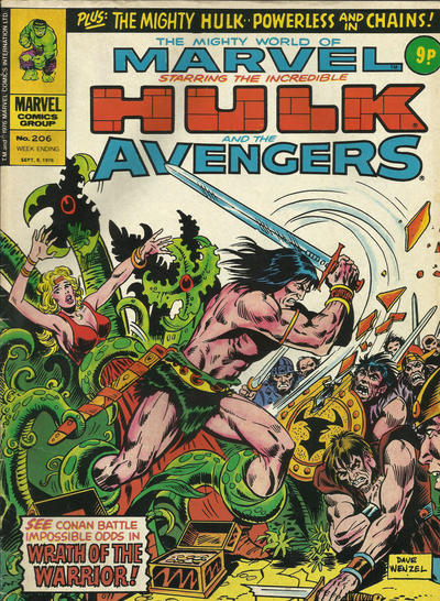 Cover for The Mighty World of Marvel (Marvel UK, 1972 series) #206