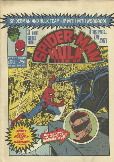 Cover for Spider-Man and Hulk Weekly (Marvel UK, 1980 series) #430