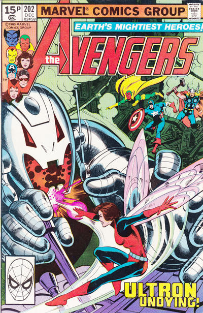 Cover for The Avengers (Marvel, 1963 series) #202 [British Variant]