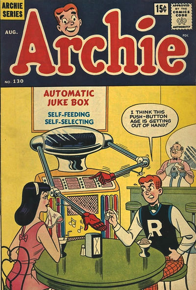 Cover for Archie (Archie, 1959 series) #130 [Canadian Price Variant]