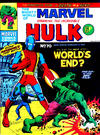 Cover for The Mighty World of Marvel (Marvel UK, 1972 series) #70