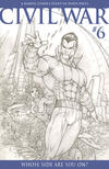 Cover for Civil War (Marvel, 2006 series) #6 [Retailer Incentive Sketch Cover]
