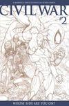Cover for Civil War (Marvel, 2006 series) #2 [Retailer Incentive Sketch Cover]