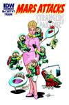 Cover for Mars Attacks the Transformers (IDW, 2013 series)  [Mars Attacks Strangers in Paradise variant]