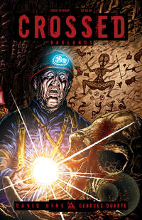 Cover for Crossed Badlands (Avatar Press, 2012 series) #16 [Red Crossed Variant Cover by Raulo Caceres]