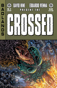 Cover for Crossed Badlands (Avatar Press, 2012 series) #17 [Red Crossed Variant Cover by Raulo Caceres]