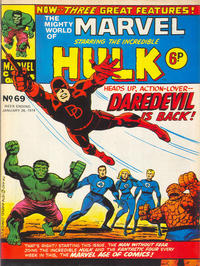 Cover Thumbnail for The Mighty World of Marvel (Marvel UK, 1972 series) #69