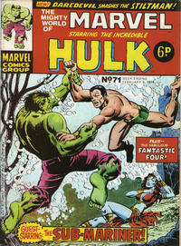 Cover Thumbnail for The Mighty World of Marvel (Marvel UK, 1972 series) #71