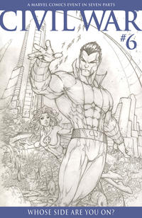 Cover Thumbnail for Civil War (Marvel, 2006 series) #6 [Retailer Incentive Sketch Cover]
