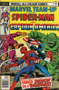 Cover Thumbnail for Marvel Team-Up (Marvel, 1972 series) #52 [British price variant]