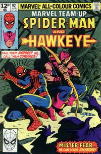 Cover Thumbnail for Marvel Team-Up (Marvel, 1972 series) #92 [British]