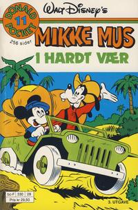 Cover Thumbnail for Donald Pocket (Hjemmet / Egmont, 1968 series) #11 - Mikke i hardt vær [3. opplag Reutsendelse 330 28]