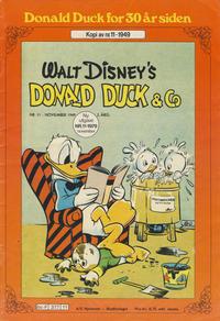 Cover Thumbnail for Donald Duck for 30 år siden (Hjemmet / Egmont, 1978 series) #11/1979