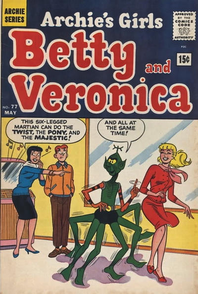 Cover for Archie's Girls Betty and Veronica (Archie, 1950 series) #77