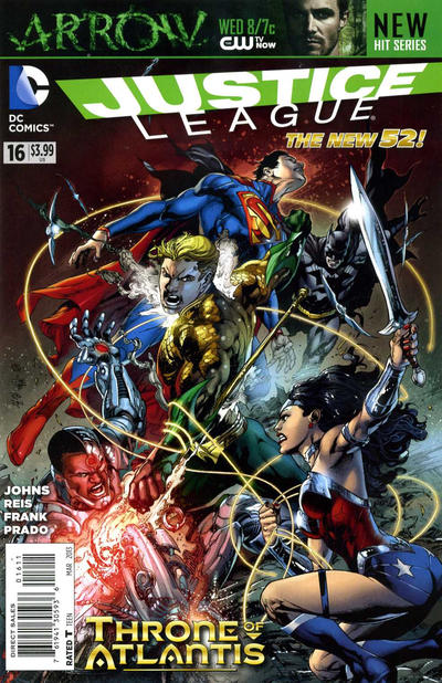 Cover for Justice League (DC, 2011 series) #16