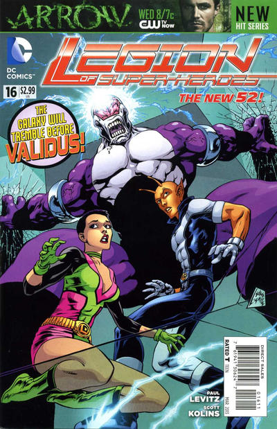 Cover for Legion of Super-Heroes (DC, 2011 series) #16