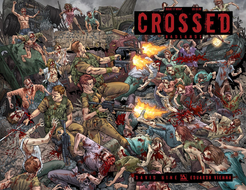 Cover for Crossed Badlands (Avatar Press, 2012 series) #17 [Wraparound Variant Cover by Gianluca Pagliarani]