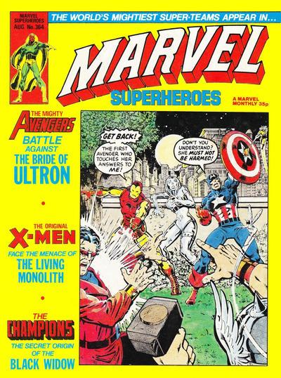 Cover for Marvel Superheroes [Marvel Super-Heroes] (Marvel UK, 1979 series) #364