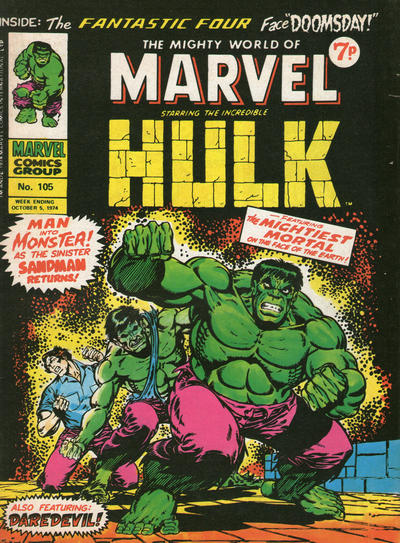 Cover for The Mighty World of Marvel (Marvel UK, 1972 series) #105