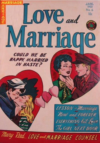 Cover for Love and Marriage (Superior, 1952 series) #6