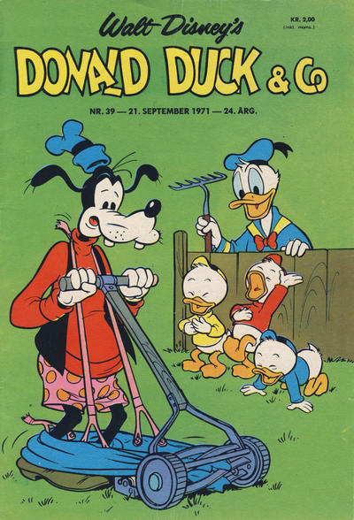 Cover for Donald Duck & Co (Hjemmet / Egmont, 1948 series) #39/1971