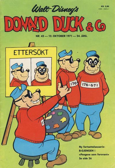 Cover for Donald Duck & Co (Hjemmet / Egmont, 1948 series) #42/1971