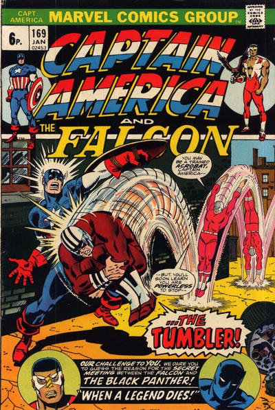 Cover for Captain America (Marvel, 1968 series) #169 [British Price Variant]