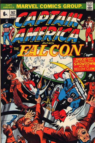 Cover for Captain America (Marvel, 1968 series) #167 [British Price Variant]