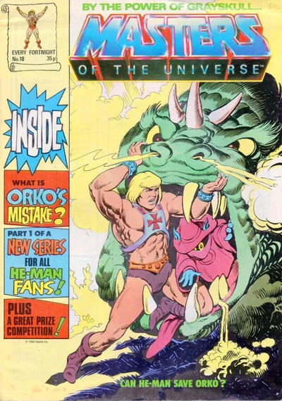 Cover for Masters of the Universe (Egmont UK, 1986 series) #18