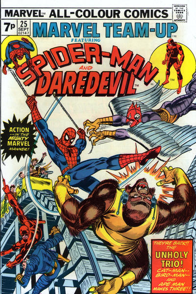 Cover for Marvel Team-Up (Marvel, 1972 series) #25