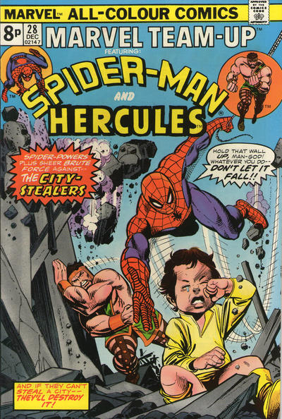 Cover for Marvel Team-Up (Marvel, 1972 series) #28