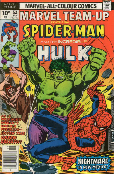 Cover for Marvel Team-Up (Marvel, 1972 series) #53 [British price variant]
