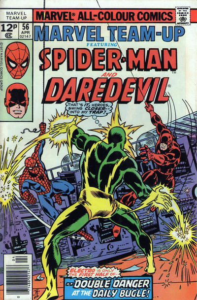 Cover for Marvel Team-Up (Marvel, 1972 series) #56 [Regular Edition]