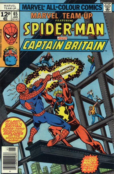 Cover for Marvel Team-Up (Marvel, 1972 series) #65 [British price variant.]