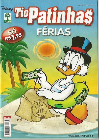 Cover for Tio Patinhas Férias (Editora Abril, 2008 series) #5