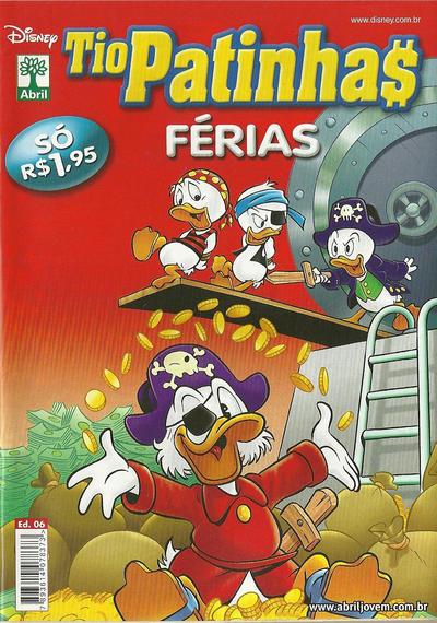 Cover for Tio Patinhas Férias (Editora Abril, 2008 series) #6