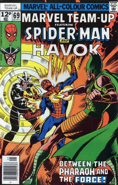 Cover for Marvel Team-Up (Marvel, 1972 series) #69 [British price variant.]