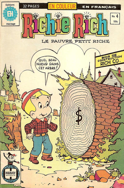 Cover for Richie Rich (Editions Héritage, 1978 series) #4