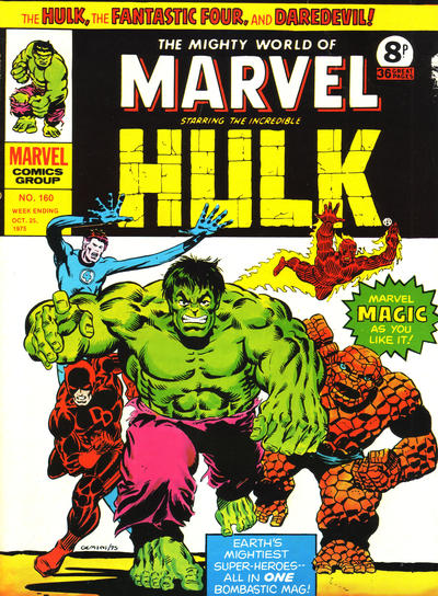 Cover for The Mighty World of Marvel (Marvel UK, 1972 series) #160