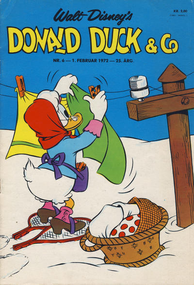 Cover for Donald Duck & Co (Hjemmet / Egmont, 1948 series) #6/1972