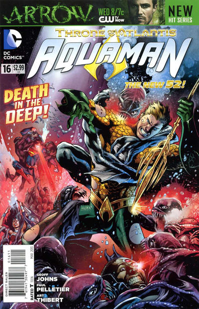 Cover for Aquaman (DC, 2011 series) #16