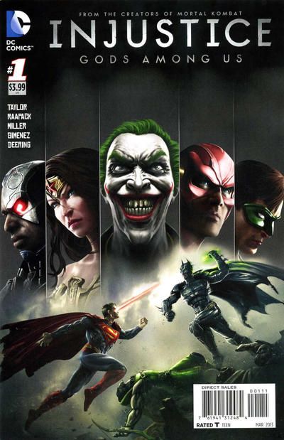 Cover for Injustice: Gods Among Us (DC, 2013 series) #1 [Second Printing]