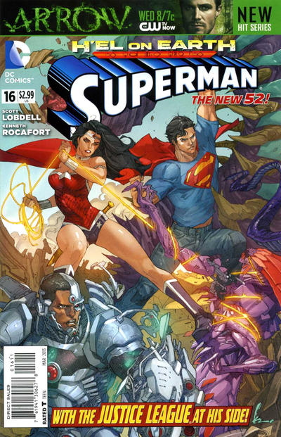 Cover for Superman (DC, 2011 series) #16 [Direct Sales]