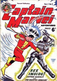 Cover Thumbnail for Captain Marvel [Captain Marvel Adventures] (L. Miller & Son, 1953 series) #v1#3
