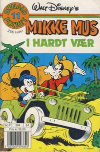 Cover Thumbnail for Donald Pocket (Hjemmet / Egmont, 1968 series) #11 - Mikke i hardt vær [4. opplag]