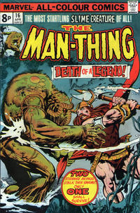Cover Thumbnail for Man-Thing (Marvel, 1974 series) #16 [British]