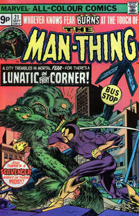Cover Thumbnail for Man-Thing (Marvel, 1974 series) #21 [British]