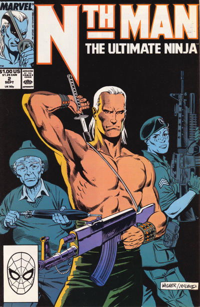 Cover for Nth Man the Ultimate Ninja (Marvel, 1989 series) #2 [Direct]