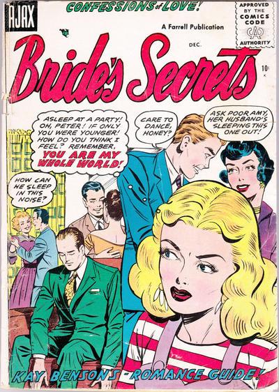 Cover for Bride's Secrets (Farrell, 1954 series) #11
